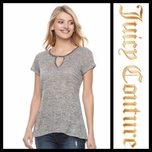 Juicy Couture Cutout Embellished Tee NWT